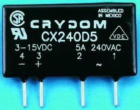 CXE240D5R, Relay SSR 15mA 32V DC-IN 5A 280V AC-OUT 4-Pin SIP