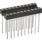 TRSL-20 (DS1007-20N), DIP панель 20-контактная цанговая узкая