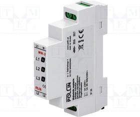 WN-3 GREEN LED, Модуль: индикатор напряжения; 3x400ВAC; IP20; DIN; Цвет: зеленый