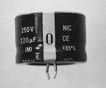 NRLF682M16V25X20F, Cap Aluminum Lytic 6800uF 16V 20% (25 X 20mm) Snap-In 10mm 0.11 Ohm 1800mA 2000h 85°C Bulk