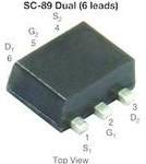 SI1034CX-T1-GE3, Trans MOSFET N-CH 20V 0.61A 6-Pin SC-89 T/R