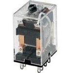 SZR-MY2-X1-DC24V, Реле 24В 5А DPDT LED+диод