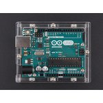 Фото 2/5 Arduino UNO R3 Acrylic Enclosure - Clear, Корпус для Arduino Uno (прозрачный)