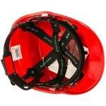 Каска защитная строительная DIAMONDV , красного цвета DIAM5ROFL