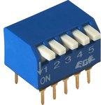 SWD3-5 (ВДМ1-5), Переключатель DIP угловой, 5 контактных групп