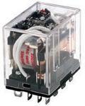 Фото 1/2 SZR-LY4-N1-AC110-120V, Power Relay 110/120VAC 10A 4PDT(41.5x28x42.4)mm Socket