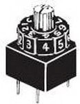 A6A10RW, Switch DIP SP10T 10 Thumbwheel 0.1A 28VDC PC Pins 10000Cycles 2.54mm Thru-Hole Box