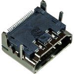 HDMI 19F розетка на плату SMT