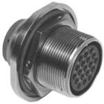 MS3454W20-2P, Conn Cylindrical Circular PIN 1 POS Crimp ST Jam Nut 1 Terminal 1 Port