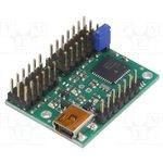 POLOLU-1352, Контроллер, USB-UART, Каналы 12, 279x361мм, 5-16ВDC, 1-333Гц, 7,3г