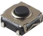 KSC343GLFG, Switch Tactile N.O. SPST Round Button Gull Wing 0.01A 32VDC 0.2VA 300000Cycles 3N SMD Automotive T/R