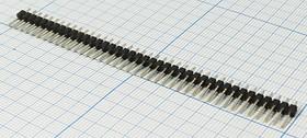 Вилка для штыревых гнёзд однорядная 1x40 контактов и шагом 2.54мм,короткая, № 463 шт PLS\P2,54\40P\ плат\\PLS-40