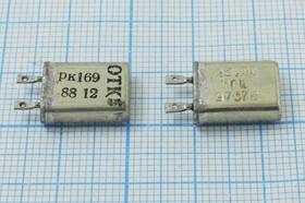 кварцевый резонатор 25МГц в корпусе с жёсткими выводами МВ, 3-ья гармоника, 25000 \ МВ\\\\РК169МВ\3Г (25М РК169)
