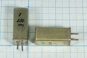 кварцевый резонатор 250кГц с большим кристаллом в корпусе типа У, 250 \УГ\\\\\1Г 11x11x25