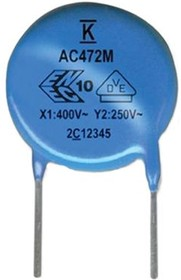 C961U682MZVDBA7317, Cap Disc Safety X1/Y2 300