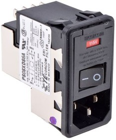 PS0SXDS6A, IEC фильтр, IEC, Сетевой, 6 А, 250 В AC, 500