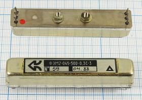 Фильтр электромеханический (ФЭМ или ЭМФ) 500кГц с полосой пропускания 0,3кГц, фэм ф 500 \пол\ 0,3/6\\\ФЭМ2- 045-500-0,3С\\