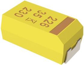 Фото 1/3 T491E476K035AT, Cap Tant Solid 47uF 35V E CASE 10% (7.3 X 6 X 3.6mm) Inward L SMD 7360-38 0.5 Ohm 125°C T/R