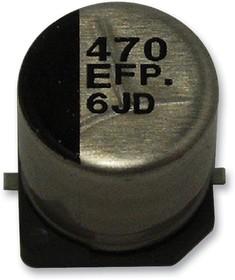 Фото 1/4 EEEFP1E220AR, SMD электролитический конденсатор, Radial Can - SMD, 22 мкФ, 25 В, 0.36 Ом, Серия FP