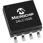 24LC1026-I/SM, EEPROM, AEC-Q100, 1 Мбит, 128К x 8бит, Serial I2C (2-Wire) ...