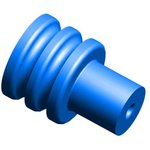 Фото 2/2 963294-1, Connector Accessories Seal Straight Silicone Blue Automotive Package