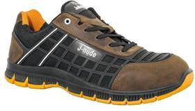 JALDOJO JNU01 46, Jaldojo Black/Brown Polymer Toe Unisex Safety Trainers, UK 11, US 11.5