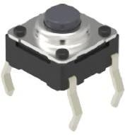 SKHWALA010, Switch Tactile 6mm 1.57N