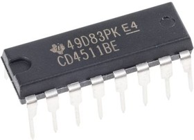 CD4511BEE4, Latch/Decoder/Driver Sing