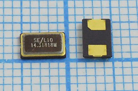 кварцевый резонатор 14.31818МГц в корпусе SMD 5x3.2мм, с двумя контактами, 14318,18 \SMD05032C2\10\ 10\ 30/-40~85C\SMD0503(2P