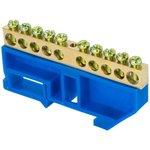 sn0-125-10-d-r, Шина 0 N (8х12мм) 10 отверстий латунь синий изолятор на ...