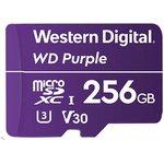 WDD256G1P0A, Флеш-накопитель WD Карта памяти WD Purple Surveillance MicroSDXC WDD256G1P0A 256ГБ Class UHS 3 (U3),