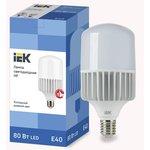 Лампа светодиодная HP 80Вт 230В 6500К E40 IEK LLE-HP-80-230-65-E40