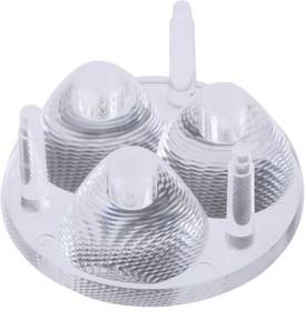 C10754_CUTE-3-SS, Round Optical Lens Clear PMMA Pin/Glue Box