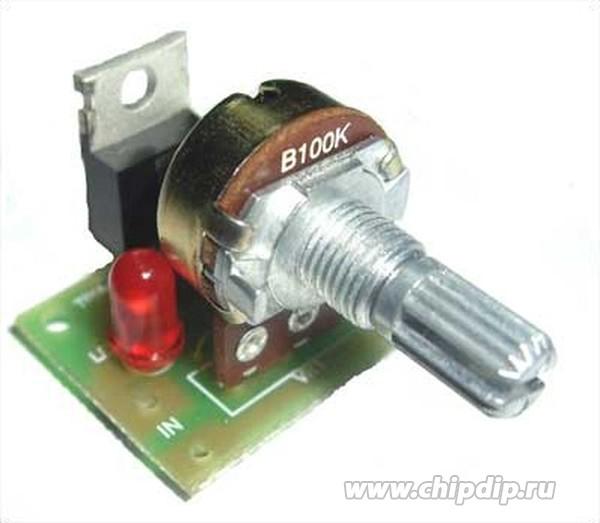 Простой регулятор оборотов электродвигателя 12в
