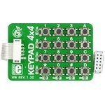MIKROE-86, Keypad 4x4 Board, Клавиатура 16 кнопок с кабелем