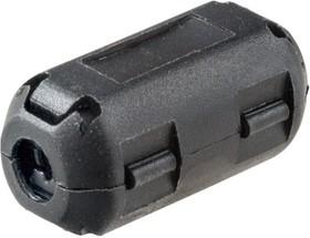 Фото 1/9 Ферритовый фильтр на кабель с защелкой ZCAT1730-0730A-BK, черный