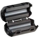 Фото 5/9 Ферритовый фильтр на кабель с защелкой ZCAT1730-0730A-BK, черный