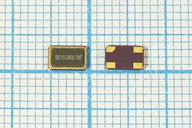 кварцевый резонатор 10.24МГц в корпусе SMD 5x3.2мм, 10240 \SMD05032C4\18\ 10\ 30/-40~85C\SMD0503(4P)\1