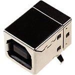 USBB-1J (DS1099-B), Розетка на плату, тип B (черная) угловая