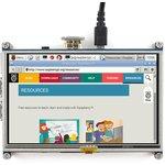 Фото 7/8 5inch HDMI LCD, HDMI дисплей 800×480px с резистивной сенсорной панелью для Raspberry Pi