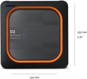 """WDBAMJ5000AGY-RESN, Накопитель твердотельный WD Внешний SSD WD My Passport Wireless SSD WDBAMJ5000AGY-RESN 500ГБ 2,5"""" US"""