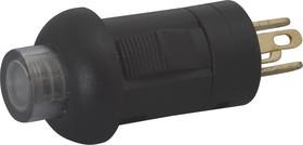 PS001-N11NAWUGUB, Кнопка без фиксации с подсветкой эеленая/синяя