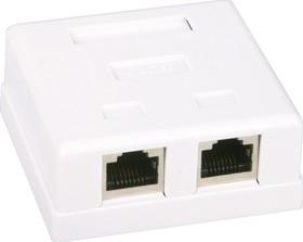 Фото 1/10 HCT-400 (FD-6166B), Розетка 8P8C (RJ45) компьютерная двойная экранированная 5cat