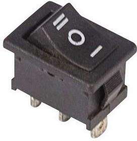 Фото 1/3 Выключатель клавишный 250В 6А (3с) ON-OFF-ON черн. с нейтралью Mini (RWB-205 SC-768) Rexant 36-2145
