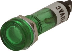 N-805G, Лампа неоновая с держателем зеленая 220V