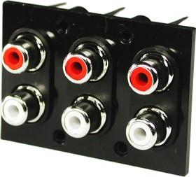 RS-604, RCA JACK 6 разъемов на панель