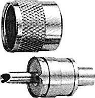 Фото 1/2 HYR-0602B (UHF-7502B) (GU-602), Разъем UHF, штекер RG-59 , обжим (Crimp)