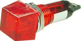 N-802R, Лампа неоновая с держателем красная 220V