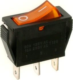 RS-102-1C3 (желтый), Переключатель ON-ON (15A 250VAC) SPDT 3P