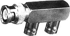 HYR-0169 (BNC-7089) (GB-169), Переходник, BNC штекер - 2 гнезда F-образное